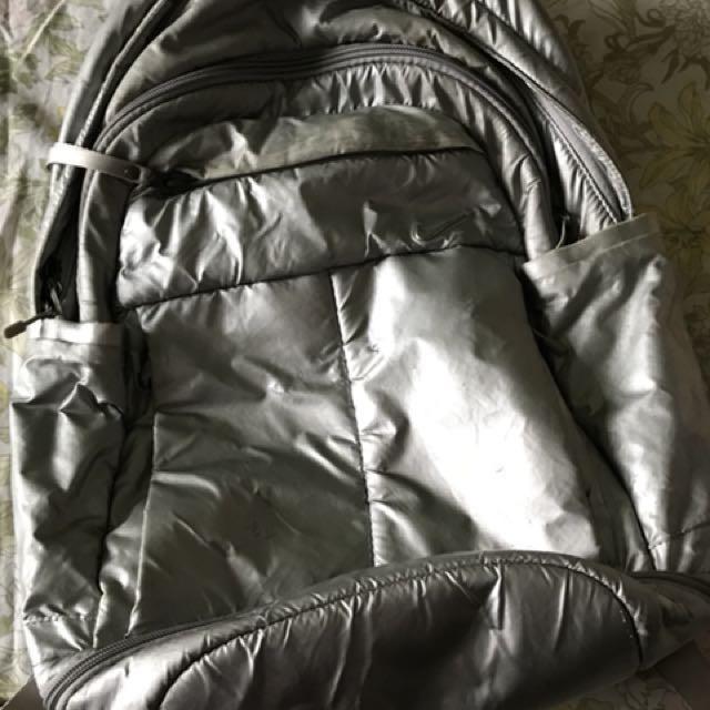 Silver Bagpack