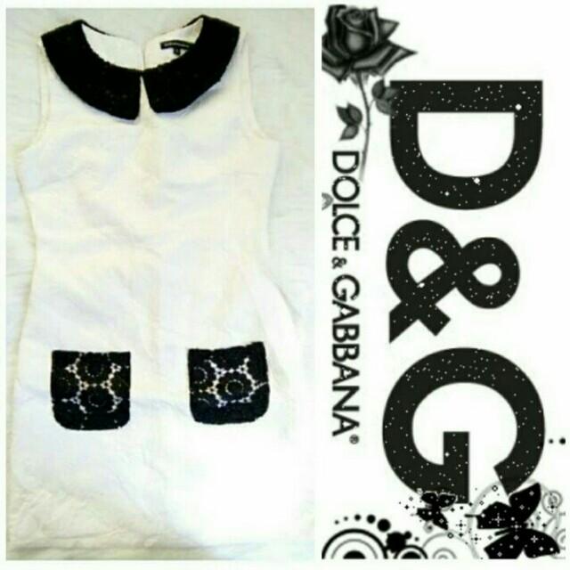 ⬇🔖Slashed Price Down🔖⬇ -Yunik- AUTHENTIC D&G Jacquard Collar Dress