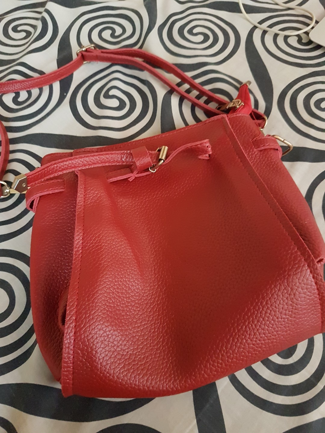 Small red sling bag 😊