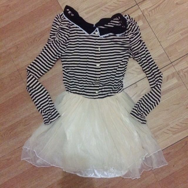 Striped Korean Dress
