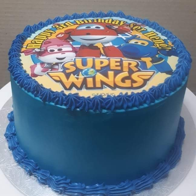 Super Wings edible cake, Food & Drinks, Baked Goods on Carousell