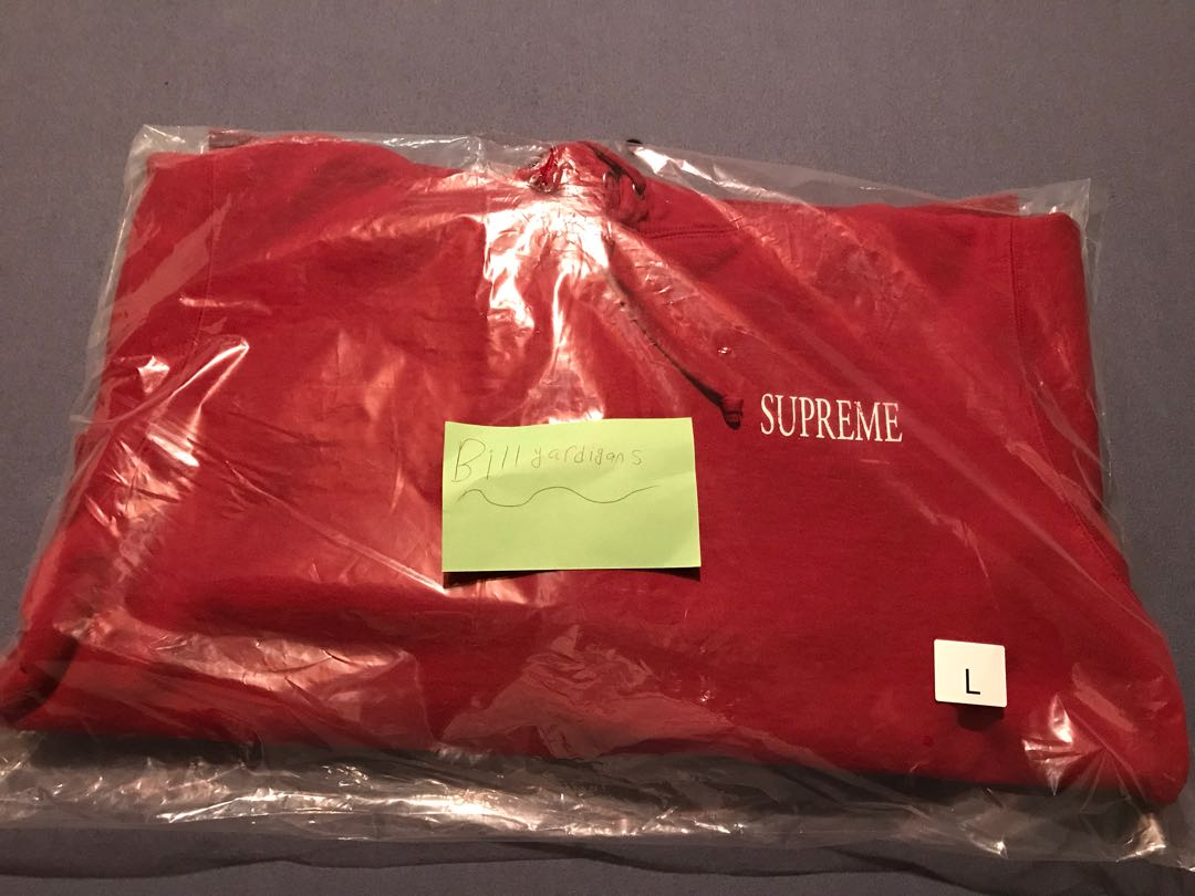 supreme the decline hoodie red large