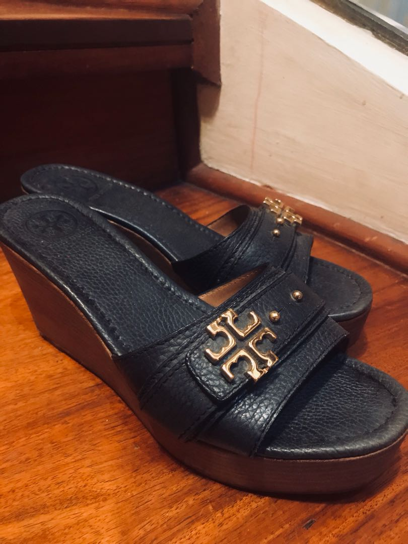 e4161a3b6 Tory Burch Navy Blue Platform