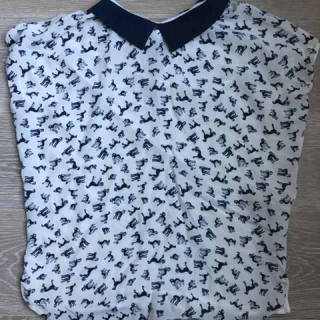 Tshirt blouse massimo dotti - size small