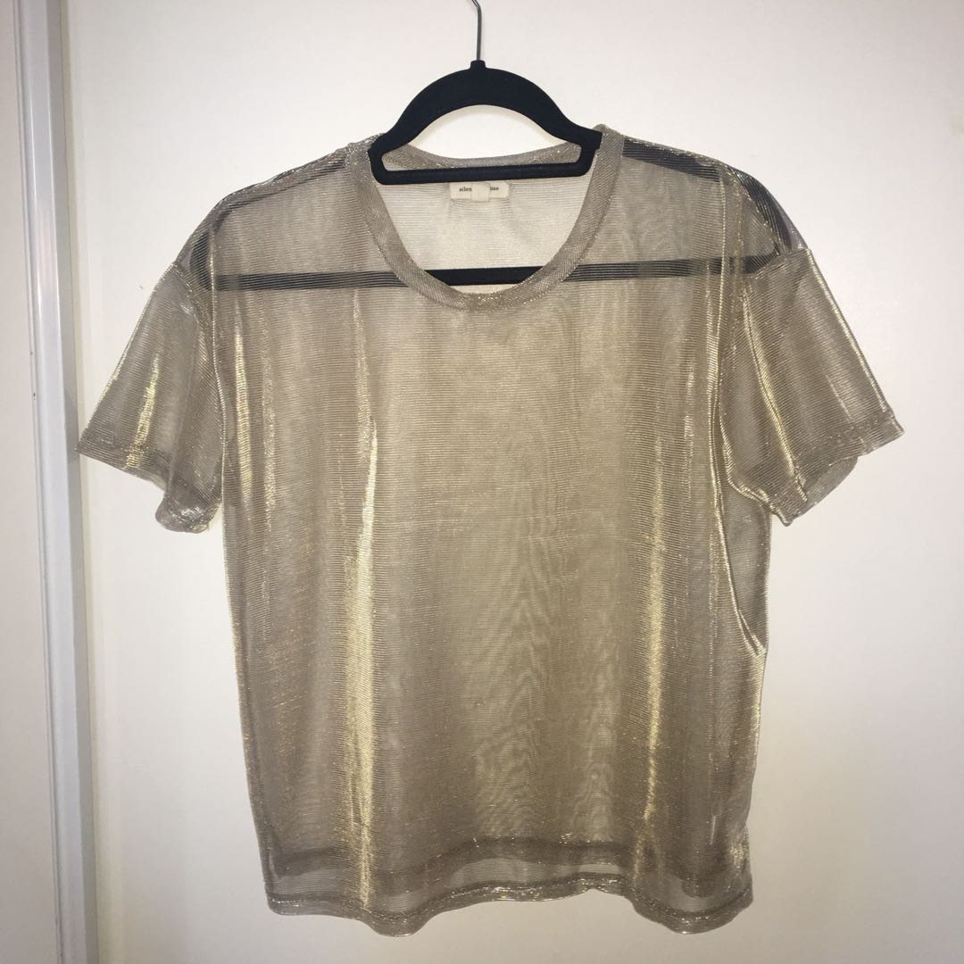 Urban Outfitters Sheer Tee