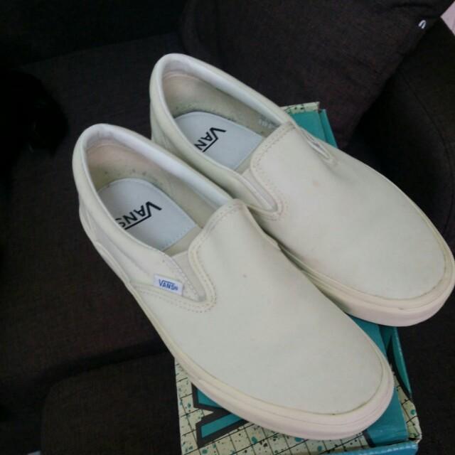 日版Vans 米白色slipon 懶人鞋