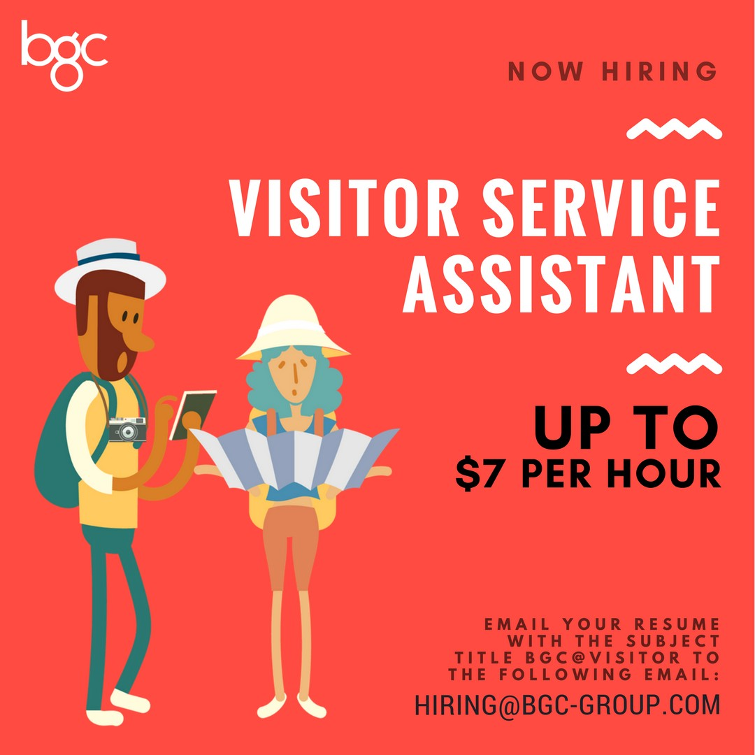 Full Time Visitor Service Assistant (Up To $7 Per Hour)