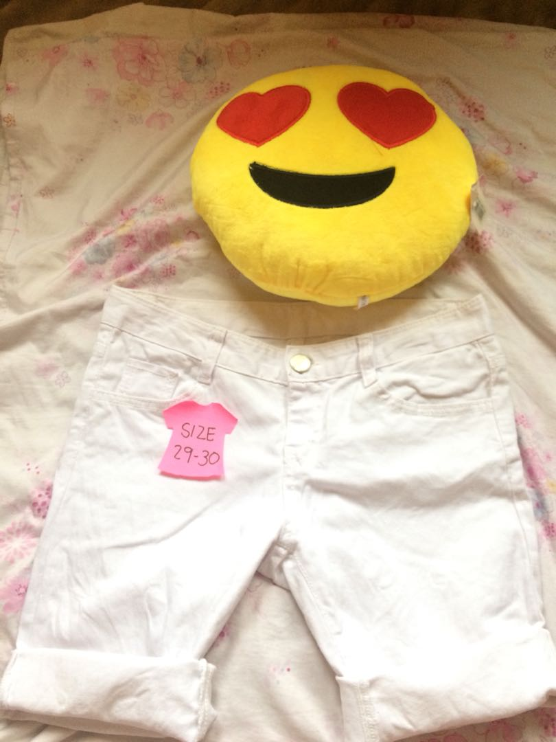 White Pedal Shorts