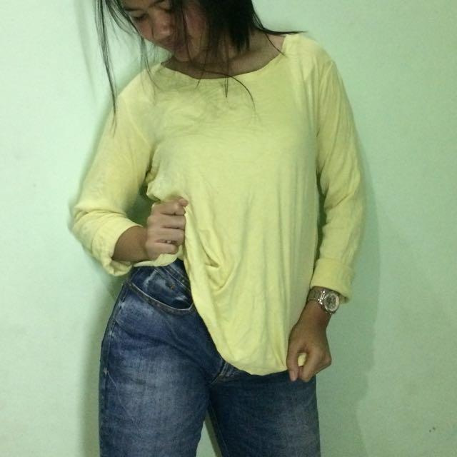 Yellow Long T Shirt
