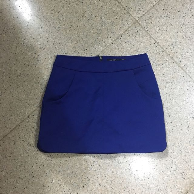 ZARA electric blue skirt