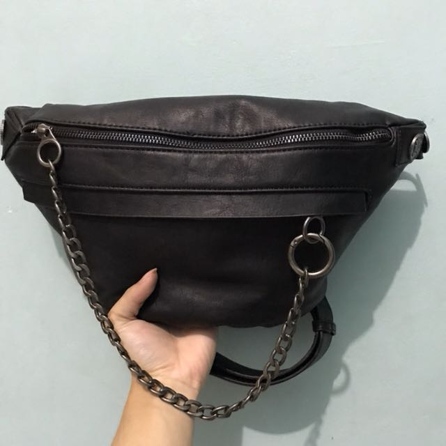 Zara leather fanny pack