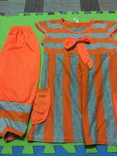 Dress paired w/ leggings