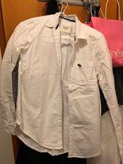 [清衣櫃]Abercrombie & Fitch 白色恤衫 襯衣