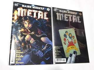 SET OF 2X DARK NIGHTS METAL # 5 DC COMICS