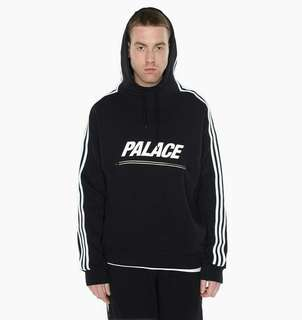 PALACE SKATEBOARD x Adidas Track Top FT Hoodie - Black/White