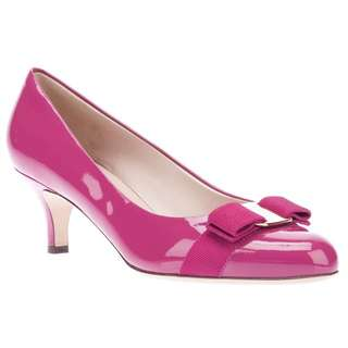 Salvatore Ferragamo Carla 55 Patented Hot Pink Heels