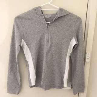 Grey with white stripes tracksuit style top