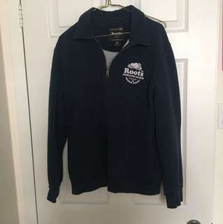 Navy Blue Roots Quarter Zip