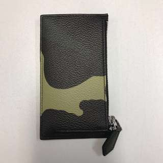 Givenchy camo print leather card coin case
