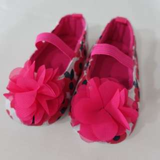 Prewalker Shoes Pink Flower