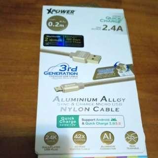 [全新]2.4A Charge 電線 (鋁合金)