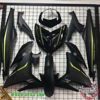 Coverset Y15ZR MX KING HITAM MATTE 2018