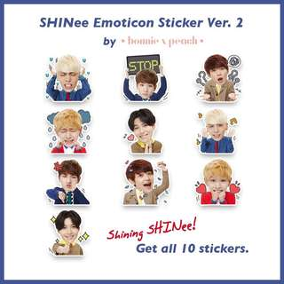 SHINee Emoticon Sticker Set Ver. 2