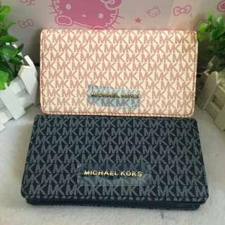 MK long wallet w/ sling