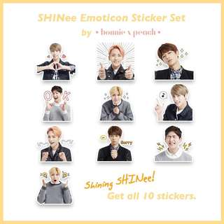 SHINee Emoticon Sticker Set
