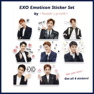EXO Emoticon Sticker Set