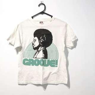🚚 白GROOVE短袖T恤