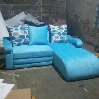 Kursi Sofa L bed leclending