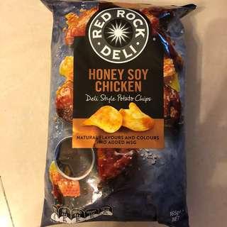 📣最後一包❗️ 澳洲🇦🇺直送薯片RED ROCK DELI蜜糖烤雞味Honey Soy Chicken crisps大包裝
