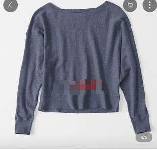 美國hoillter冷衫 紫藍色蝙蝠袖上衣全新