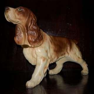 Vintage ceramic dog figure