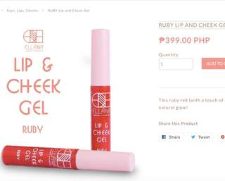 Lip and Cheeck tint Ruby