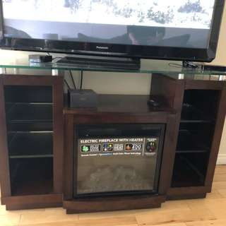 TV table with heater