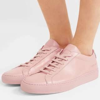 Common projects pink sneakers