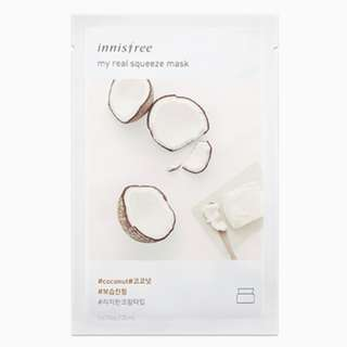 My real squeeze mask - coconut [10 PCS] [MIX & MATCH] [NEW ARRIVAL]