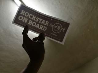 Hard Rock Windscreen Sticker