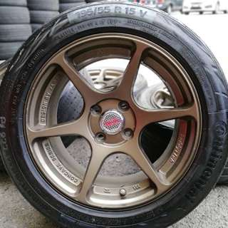 P1 buddy club 15 inch sports rim alza tyre 70%