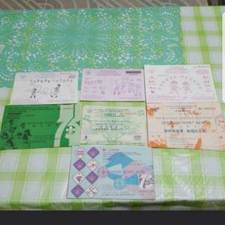 1986至2002 童軍獎券(全套特價)