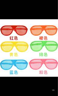 Huge fun and colored spectacles