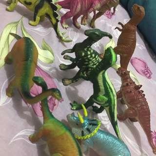 侏羅紀小公園 共10隻恐龍喔