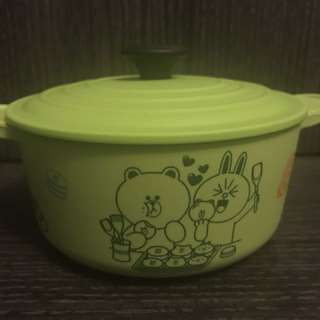 7-11 Line friends x LE CREUSET 圓形置物盒