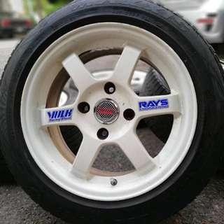 Te37 15 inch sports rim proton iriz tyre 70%. Makan kuaci dengan penyu, ini rim ngam ngam untuk you!!!