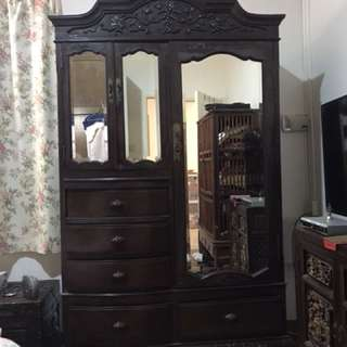 Blackwood Antique English Cabinet