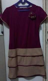 Dress ungu chiffon