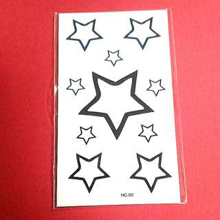 Big Stars Temporary Tattoo