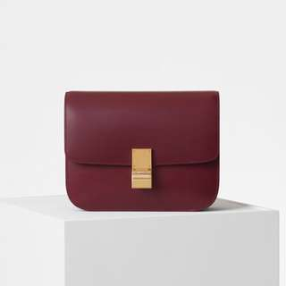 CELINE MEDIUM CLASSIC BAG IN BOX CALFSKIN 代購